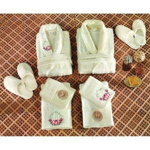 Turkish Robe Sets, Family Set, White, 6 Pieces